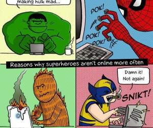 superheroes are not online